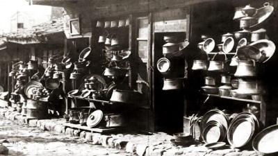 Пловдив, медникарската чаршия, 30-те години на ХХ век